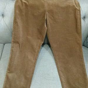 Eileen Fisher crop light  cord pants size L